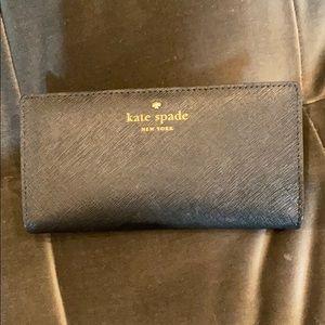 Kate spade bi-fold leather wallet black